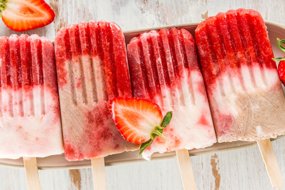 Strawberry Milk Popsicles